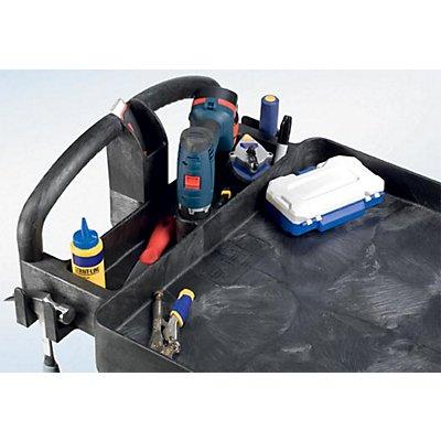 Rubbermaid Allzweck-Tischwagen aus Kunststoff - mit Wannenvertiefung
