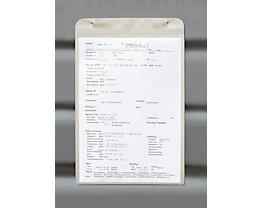 Einstecktasche, magnetisch - mit Magnetstreifen, für Papierformat DIN A5 - HxB 260 x 155 mm, Hochformat, VE 25 Stk
