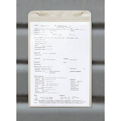 Einstecktasche, magnetisch - mit Magnetstreifen, für Papierformat DIN A4