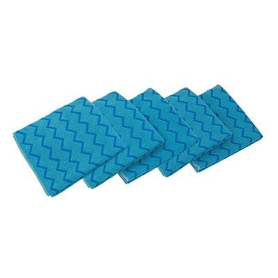 Mikrofasertuch - VE 12 Stk, LxB 406 x 406 mm - blau