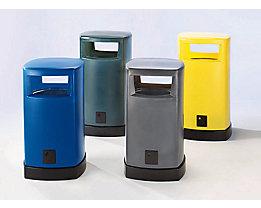 Abfallsammler aus Kunststoff  - Inhalt 120 Liter für außen