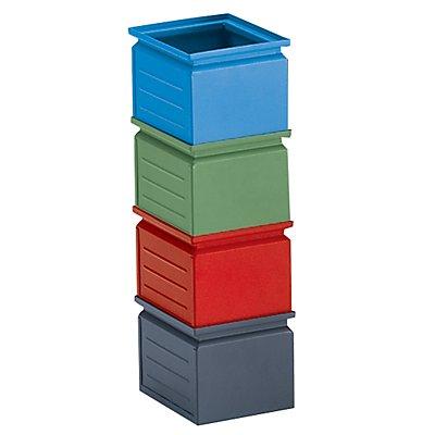 Stapelkasten aus Stahlblech - Inhalt ca. 3,6 l