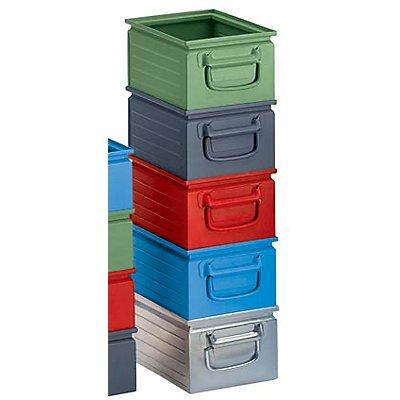 Stapelkasten aus Stahlblech - Inhalt ca. 9 l