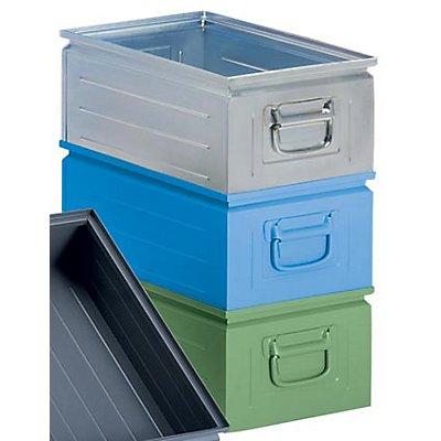 Stapelkasten aus Stahlblech - Inhalt ca. 25 l