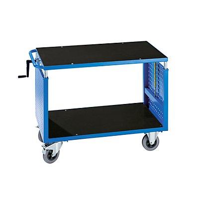 EUROKRAFT Montagewagen, höhenverstellbar - 1 Ablageboden - lichtblau