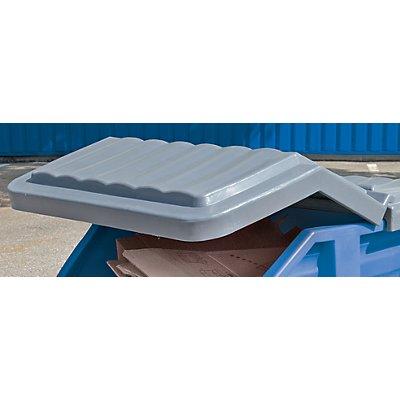 Klappdeckel - für Behältervolumen 500 l - aus Polyethylen