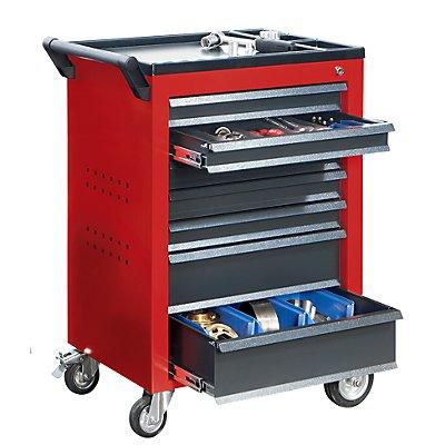 QUIPO Werkzeugwagen - 7 Schubladen mit Einzelarretierung