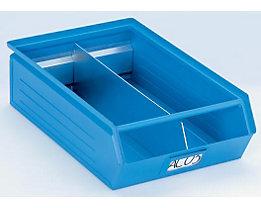 Längsteiler für Sichtlagerkasten - verzinkt, VE 10 Stk - für Kasteninhalt 7,2 l