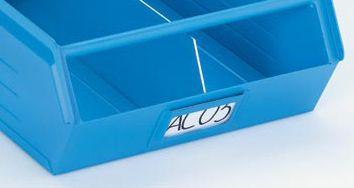 Etiketten, VE 100 Stk - für Sichtlagerkasten