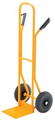 QUIPO Stapelkarre aus Stahlrohr - Tragfähigkeit 200 kg , Luftbereifung