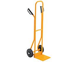 QUIPO Stahlrohrkarre - Tragfähigkeit 200 kg, Vollgummibereifung