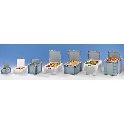 VECTURA Stapelbehälter aus Polypropylen - Inhalt 52 l, Außenmaße LxBxH 600 x 400 x 280 mm