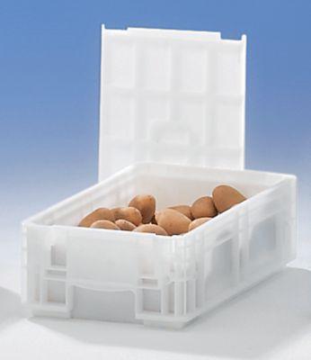 Stapelbehälter aus Polypropylen - Inhalt 12 l, Außenmaße LxBxH 400 x 300 x 147 mm