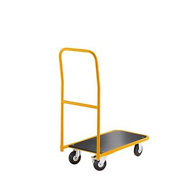 QUIPO Magazinwagen, Tragfähigkeit 200 kg - Ladefläche LxB 850 x 430 mm - mit anschraubbarem Schiebebügel