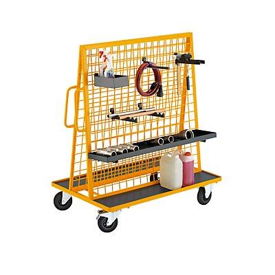 QUIPO Werkzeugmobil - Tragfähigkeit 350 kg - Außenmaße LxBxH 1350 x 800 x 1455 mm