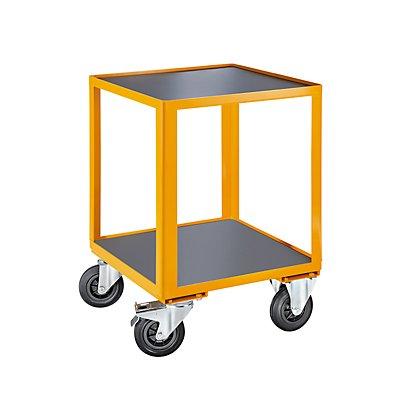QUIPO Montagewagen - mit Stahlkante als Abrutschsicherung - LxBxH 600 x 600 x 870 mm