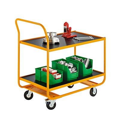 QUIPO Industrie-Tischwagen - 2 Ladeflächen LxB 1020 x 590 mm - Tragfähigkeit 250 kg