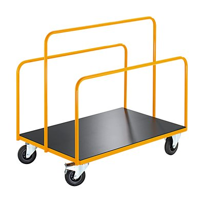 QUIPO Plattentransportwagen - mit 3 fest verschweißten Rohrbügeln - Tragfähigkeit 350 kg