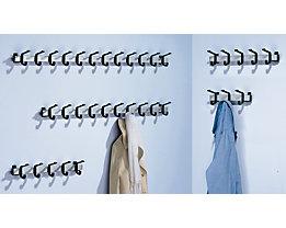 Garderobenleiste, Aluminium - Hakenbelastbarkeit 90 kg