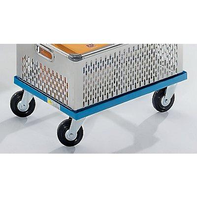 Stahl-Fahrgestell - Ladefläche 850 x 600 mm - 4 Lenkrollen