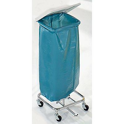 Wertstoff-Müllsackständer ohne Deckel - für 1 x 70-Liter-Sack, Fahrgestell