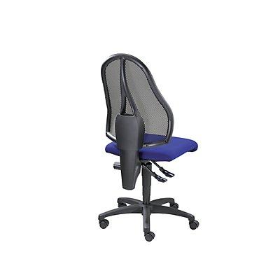 Topstar Bürodrehstuhl, Permanentkontakt-Mechanik und Flachsitz - ohne Armlehnen, Netzrückenlehne schwarz