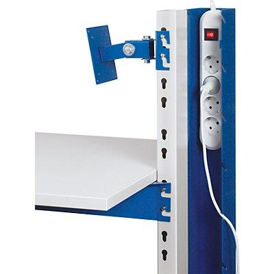 RAU PC- und Gerätestation - Kabelkanal mit integrierter 4fach-Steckdosenleiste