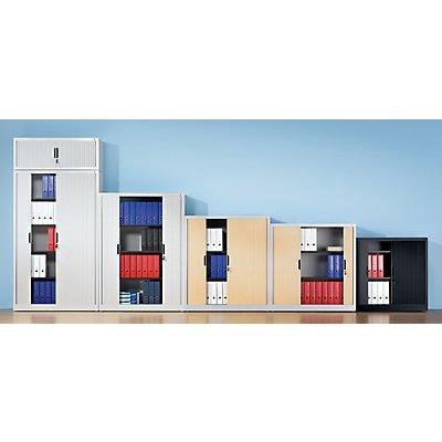 CP Rollladenschrank mit Horizontal-Jalousie - HxBxT 1980 x 800 x 420 mm, 4 Fachböden, 5 Ordnerhöhen