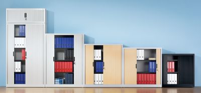 Rollladenschrank mit Horizontal-Jalousie - HxBxT 720 x 800 x 420