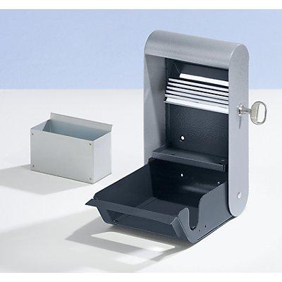 Design-Wandascher für innen und außen - mit Inneneimer