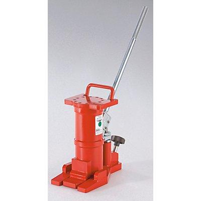 Hydraulikheber mit abnehmbarem Hebel - Tragfähigkeit 6 t, Gewicht 15 kg - horizontal und vertikal einsetzbar
