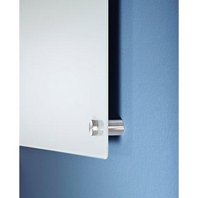 Glas-Whiteboard - BxH 900 x 600 mm - weiß