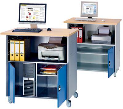 RAU PC-Tisch - mit Mitteltrennwand