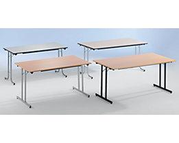 Table pliante STANDARD - piétement carré avec vérins de mise à niveau