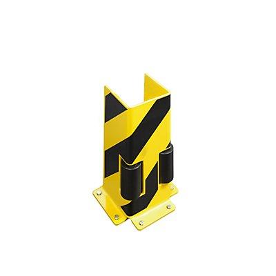 Anfahrschutz mit Leitrollen - U-Profil, HxBxT 400 x 160 x 160 mm