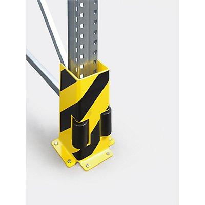 Regal-Anfahrschutz mit Leitrollen - U-Profil, schwarz / gelb