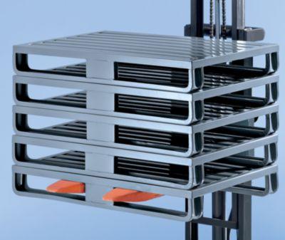 Stahlblechpalette mit breiten Kufen - LxBxH 1200 x 1000 x 160 mm, Traglast 1500 kg