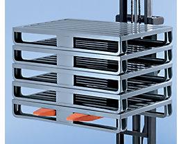 Palette en tôle d'acier avec semelles larges - L x l x h 1000 x 800 x 160 mm, charge max. 2000 kg