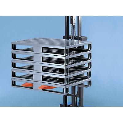 Stahlblechpalette mit breiten Kufen - LxBxH 1200 x 800 x 160 mm, Traglast 2000 kg