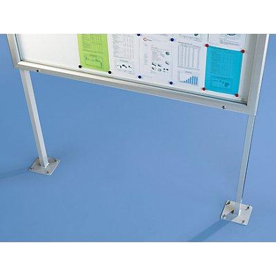 office akktiv Schaukasten, Alu-Rahmen, für Innen- und Außenbereich - mit Horizontalschwenktür