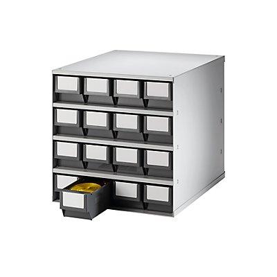 Bloc-tiroir, charge max. 75 kg - h x l x p 395 x 380 x 400 mm, 16 tiroirs