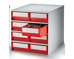 Bloc-tiroir, charge max. 75 kg - h x l x p 395 x 380 x 400 mm, 8 tiroirs