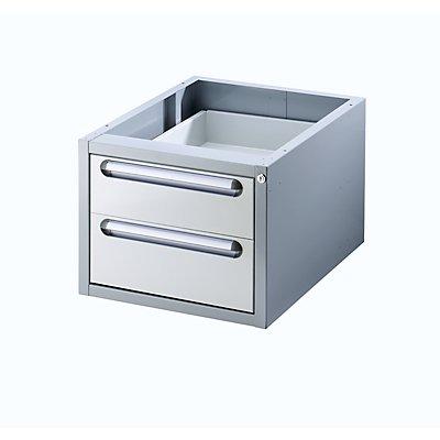RAU Arbeitsplatz-System, Tisch-Unterbau - Schubladen-Hängeblock