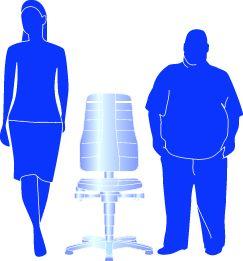 bimos Arbeitsdrehstuhl mit Ergonomiefunktionen - mit Rollen
