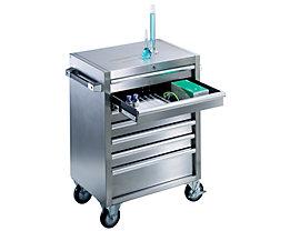 Edelstahl-Werkzeugwagen - 7 Schubladen mit Einzelarretierung