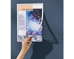 Einstecktasche, magnetisch - Umrandung in Silber - für DIN A4, VE 10 Stk