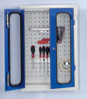 Werkzeug-Hängeschrank mit Sichtfenster - mit Loch-Rückwand