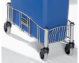 Châssis roulant pour collecteur de tri - tôle d'acier peinte époxy - L x l x h 516 x 236 x 241 mm