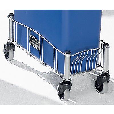Fahrwagen für Wertstoffbehälter - Stahlblech, pulverbeschichtet - LxBxH 516 x 236 x 241 mm