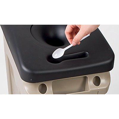 Becher-Deckel - mit Flüssigkeitsbehälter - passend für 87-l-Behälter